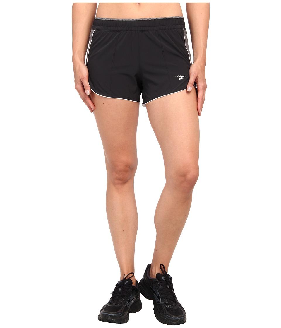 Brooks - Epiphany 3.5 Stretch Short III (Black/Mako) Women's Shorts