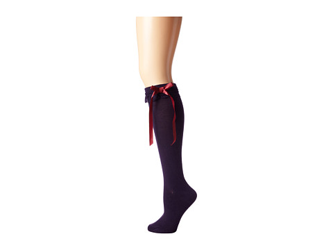 M&F Western - Blazin Roxx Fashion Sock (Purple Ruffle/Red Bow) Women's Knee High Socks Shoes