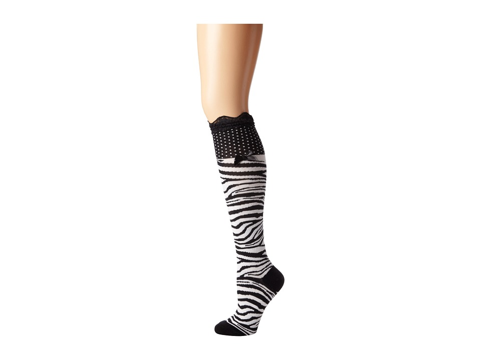 M&F Western - Blazin Roxx Fashion Sock (Zebra) Women's Knee High Socks Shoes