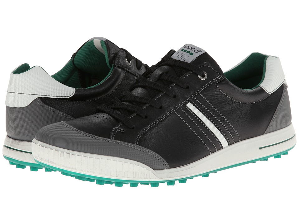 ECCO Golf - Street Hybrid (Black/Shadow White/Green) Men's Golf Shoes