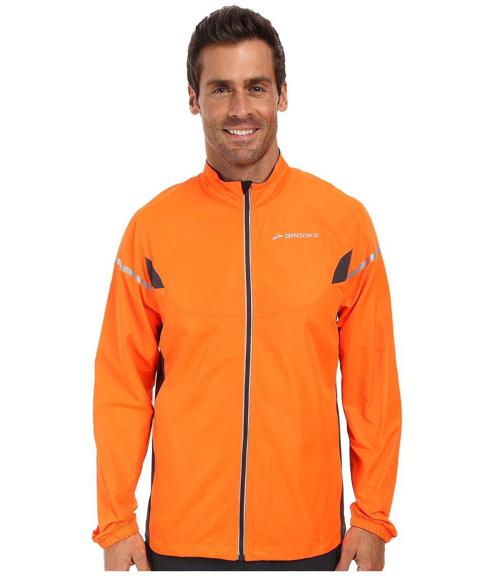 Brooks - Essential Jacket IV (Brite Orange/Anthracite) Men's Coat