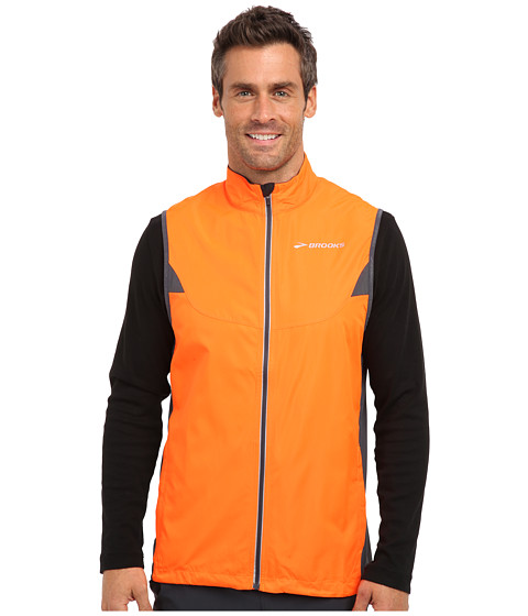 Brooks - Essential Vest IV (Brite Orange/Anthracite) Men's Vest