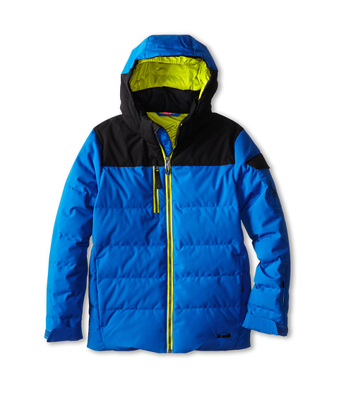 Spyder Kids - Clutch Down Jacket (Big Kids) (Stratos Blue/Black/Acid) Boy
