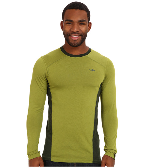 Outdoor Research - Sequence L/S Crew (Hops/Evergreen) Men's T Shirt
