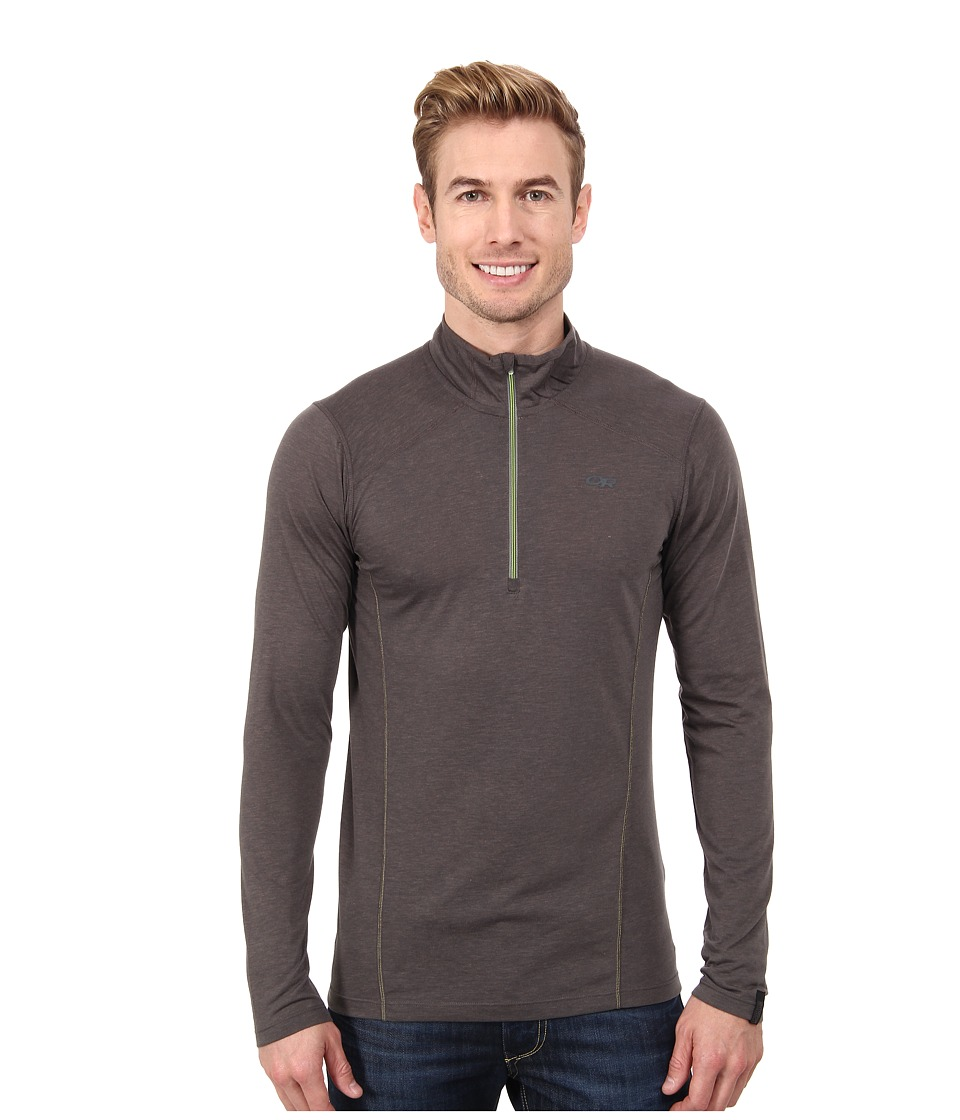 Outdoor Research - Sequence L/S Zip Top (Charcoal) Men's Clothing