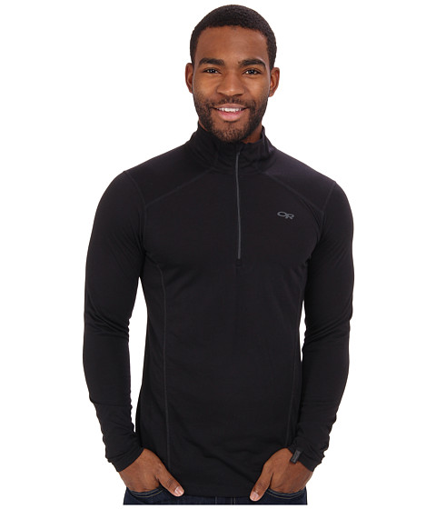 Outdoor Research - Sequence L/S Zip Top (Black) Men's Clothing