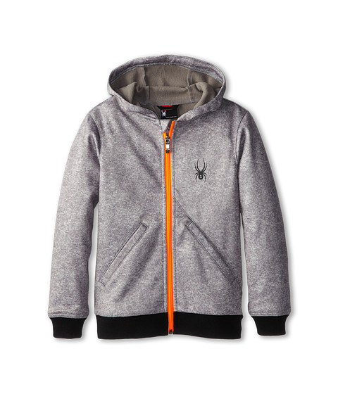 Spyder Kids - Invert Softshell Jacket (Big Kids) (Graystone Hoody/Bryte Orange) Boy