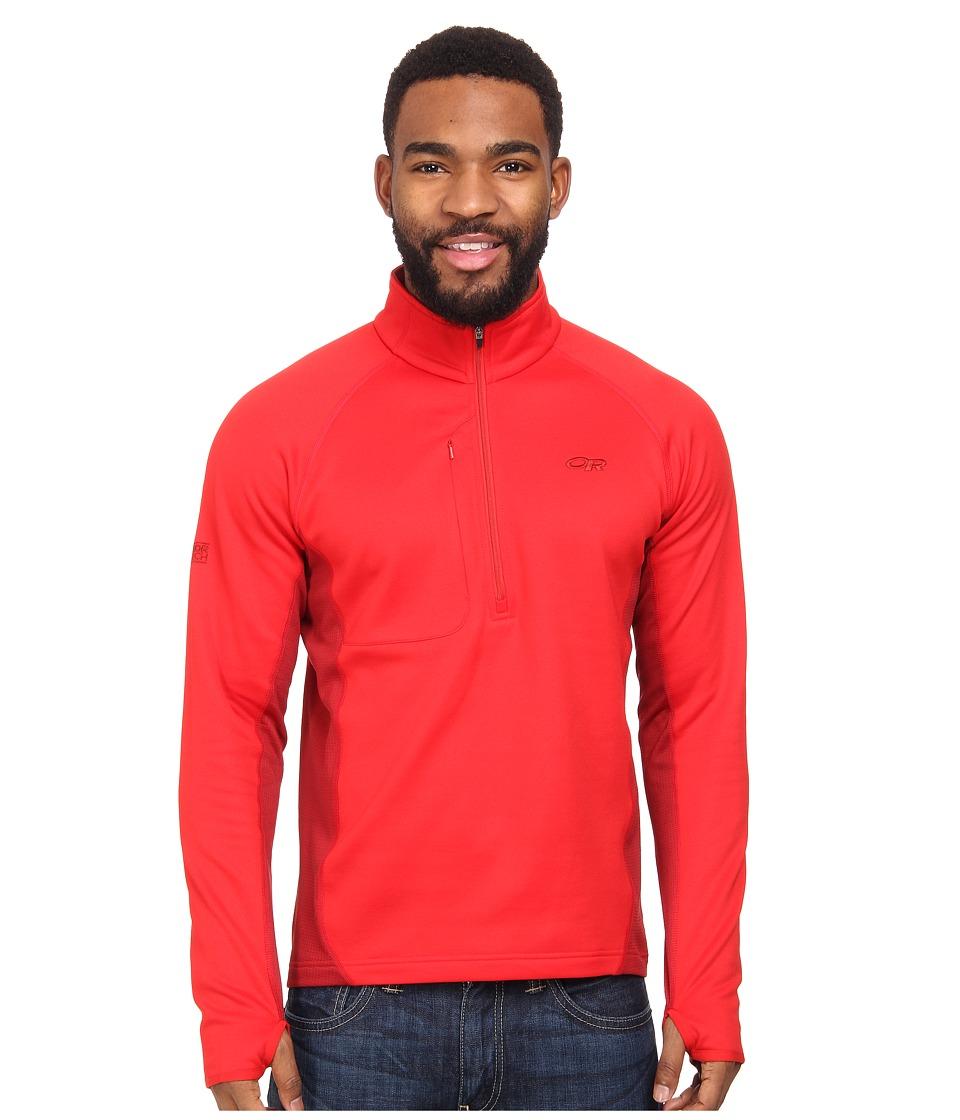 Outdoor Research - Radiant Hybrid Pullover (Hot Sauce/Redwood) Men's Coat