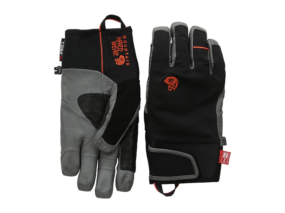 Mountain Hardwear - Hydra Pro Glove (Black/State Orange) Extreme Cold Weather Gloves