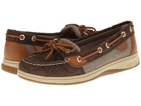 Sperry Top-Sider Angelfish (Brown Rope Embossed) Women's Slip on  Shoes