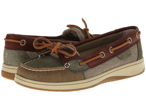 Sperry Top-Sider - Angelfish (Olive/Cognac Sparkle Suede) Women