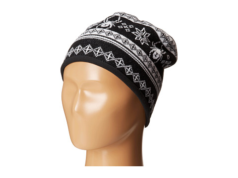 Spyder Kids - Courmayeur Hat (Big Kids) (Black/White/White) Beanies