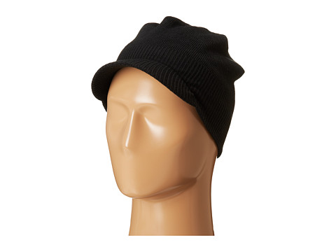 Spyder Kids - Brim Hat (Big Kids) (Black/Volcano) Beanies