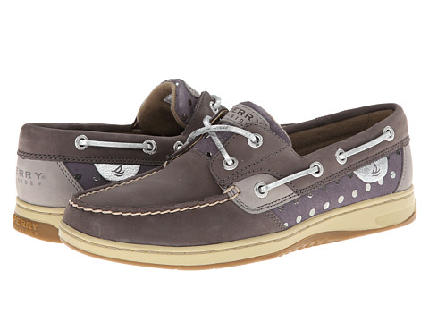 Sperry Top-Sider - Bluefish 2-Eye (Graphite/Silver Metallic Dot) Women's Slip on Shoes