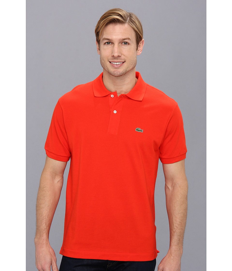 Lacoste - L1212 Classic Pique Polo Shirt (Volcanic Orange) Men's Short Sleeve Knit