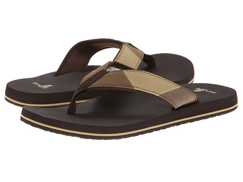 Sanuk - Block Party (Dark Brown/Brown) Men's Sandals