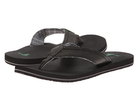Sanuk - Straight Shot (Black) Men's Sandals
