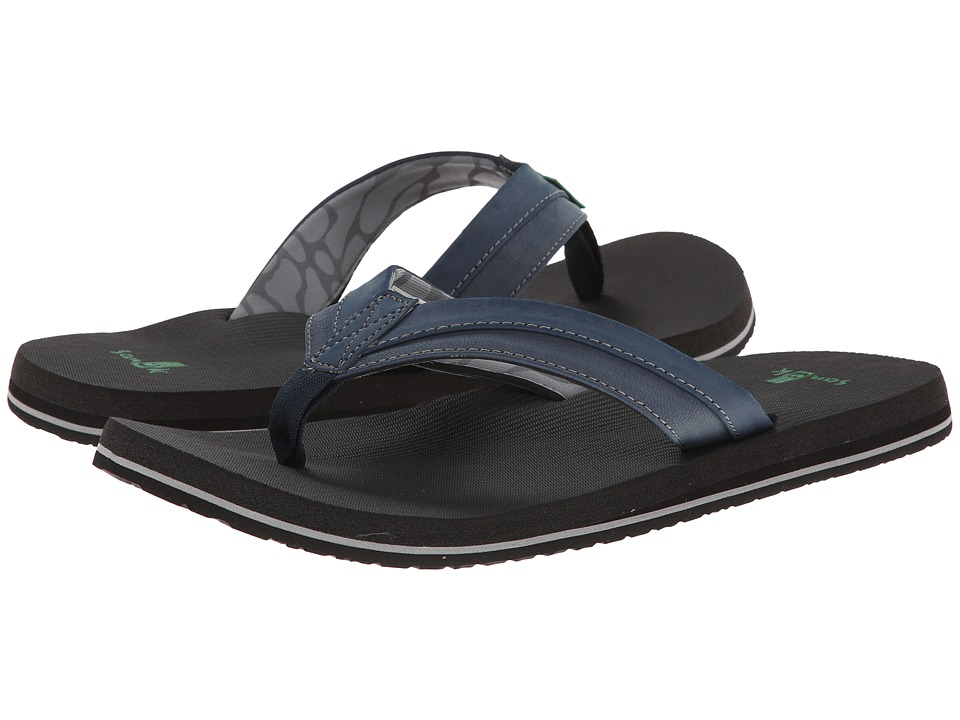 Sanuk - Beer Cozy Light (Navy) Men's Sandals
