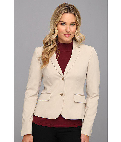 Calvin Klein - 2 Button Jacket (Khaki) Women's Jacket