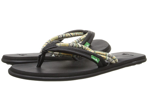 Sanuk - Lu Lu (Black/Natural Multi) Women's Sandals