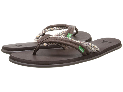 Sanuk - Lu Lu (Chocolate/Natural Multi) Women's Sandals