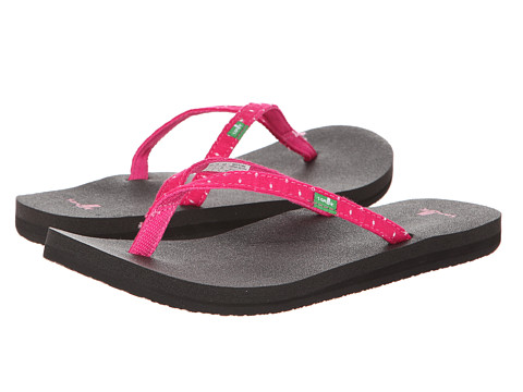 Sanuk - Yoga Joy Dots (Fuchsia Dots) Women's Sandals