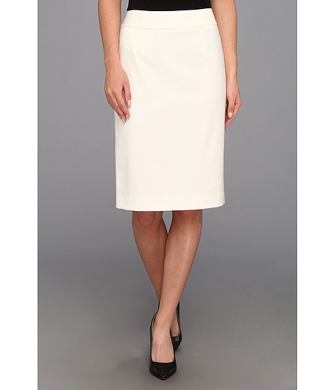 Calvin Klein - Straight Pencil Skirt (Cream) Women