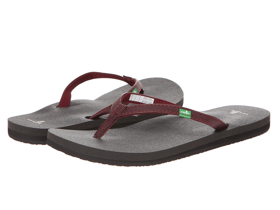 Sanuk - Yoga Joy (Burgundy) Women's Sandals