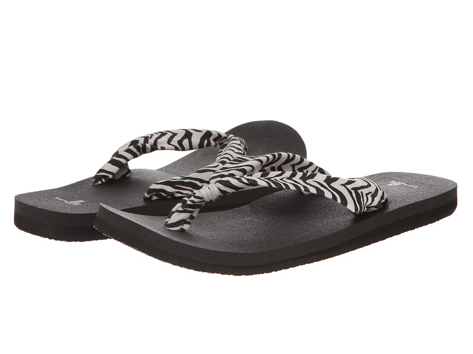 Sanuk - Yoga Slinger Prints (Zebra) Women's Sandals