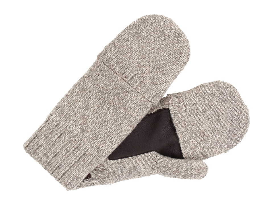 UGG - Calvert Fingerless Flip Mitt Glove with Leather Palm (Oatmeal Heather) Dress Gloves