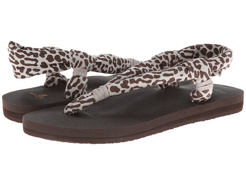 Sanuk - Yoga Slingshot Prints (Cheetah) Women's Sandals