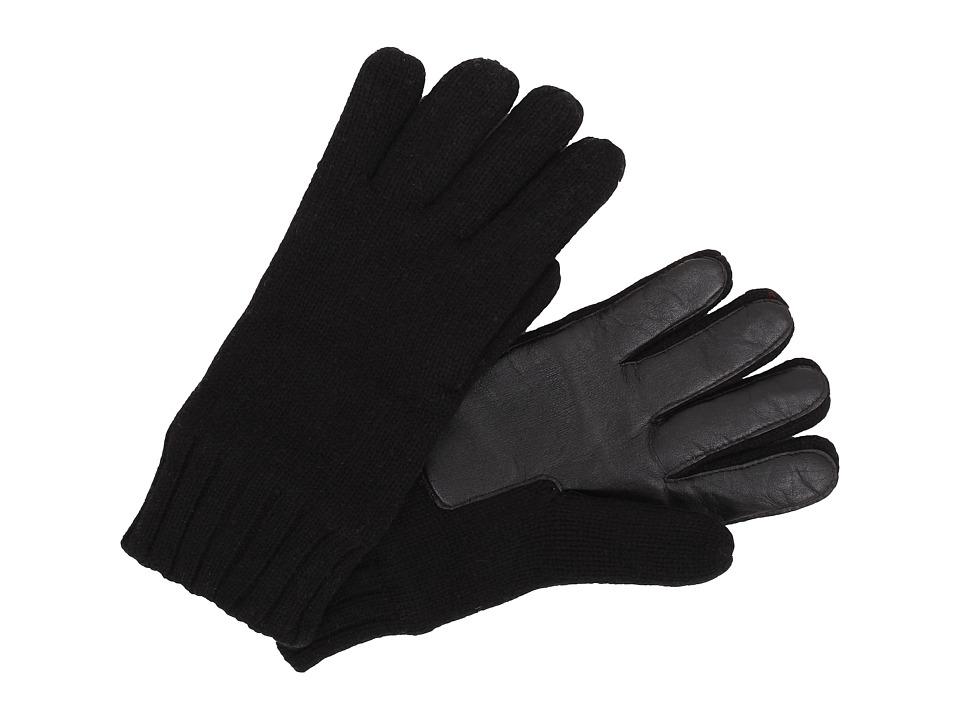 UGG - Calvert Glove with Smart Glove Leather Palm (Black) Dress Gloves
