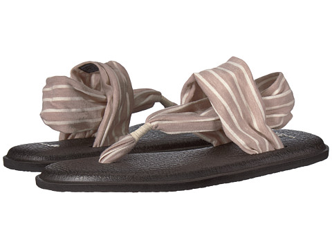 Sanuk - Yoga Sling 2 Prints (Tan/Natural Stripes) Women's Sandals