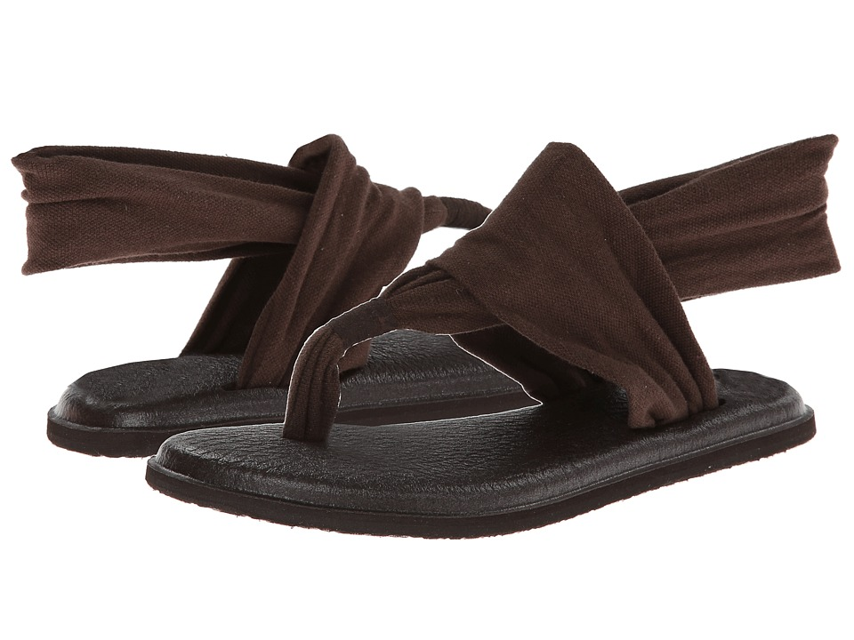 Sanuk - Yoga Sling 2 (Chocolate) Women's Sandals