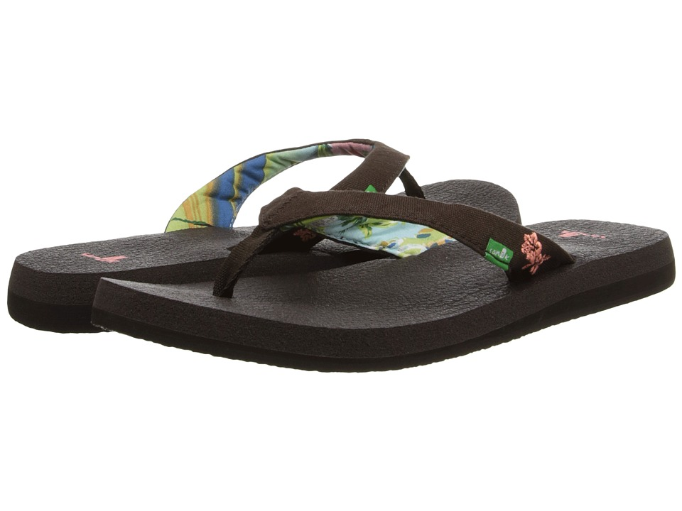 Sanuk - Yoga Paradise (Chocolate/Coral) Women's Sandals