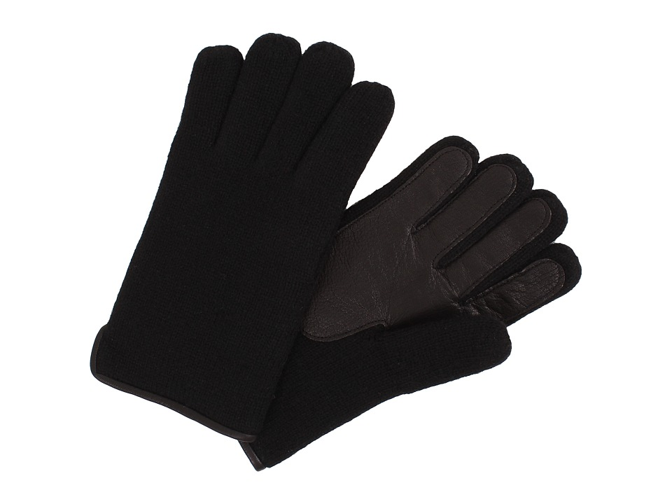 UGG - Calvert Side Vent Glove with Leather Palm (Black) Dress Gloves