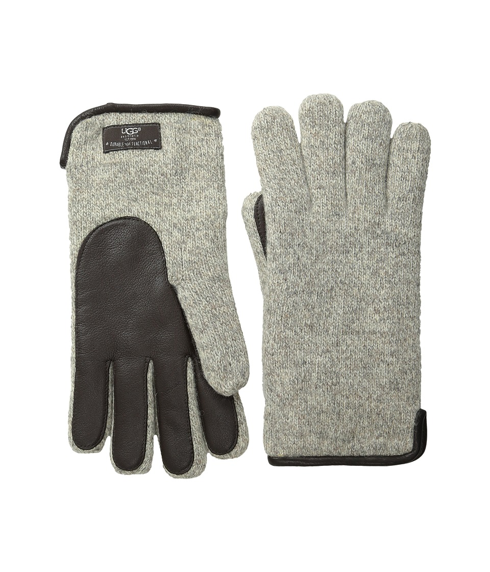 UGG - Calvert Side Vent Glove with Leather Palm (Oatmeal Heather) Dress Gloves