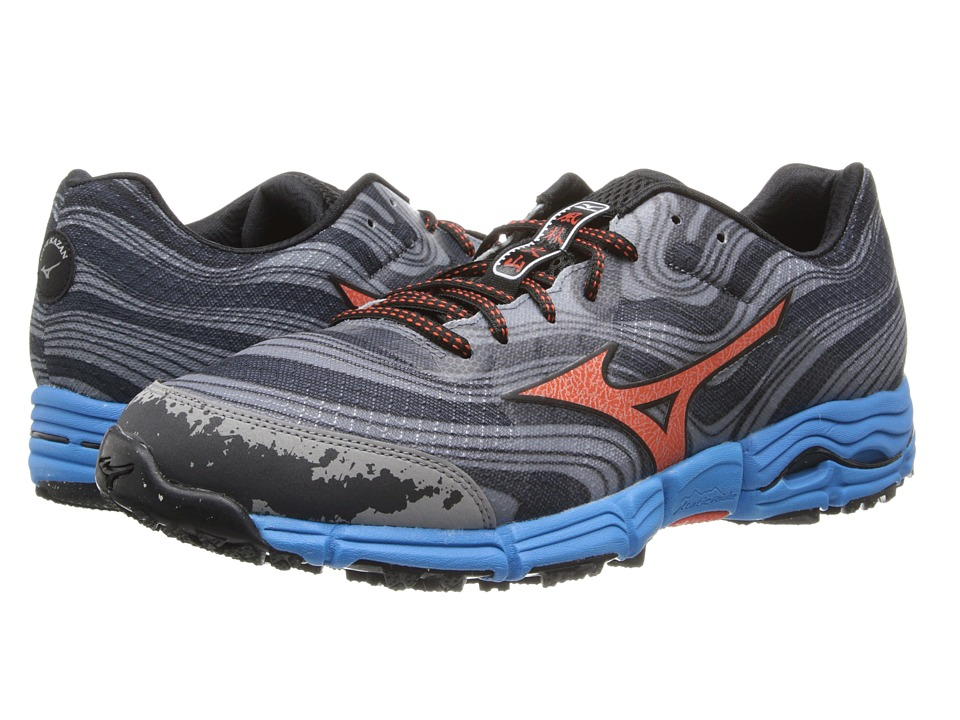 Mizuno - Wave Kazan (Gunmetal/Tangerine Tango) Men's Running Shoes
