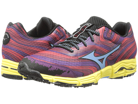 Mizuno - Wave Kazan (Chinese Red/Alaskan Blue/Purple Passion) Women