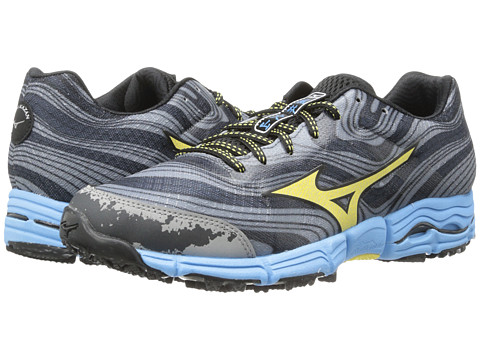 Mizuno - Wave Kazan (Gunmetal/Yellow Cream) Women's Running Shoes
