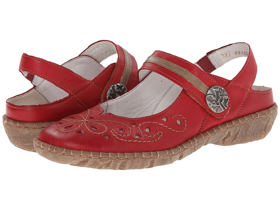 Rieker - R6710 Blanche 10 (Red) Women's Maryjane Shoes