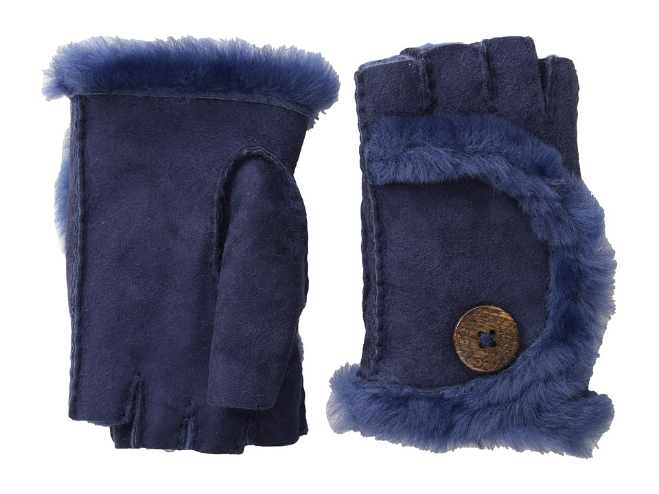 UGG - Mini Bailey Fingerless Glove (Peacoat) Dress Gloves