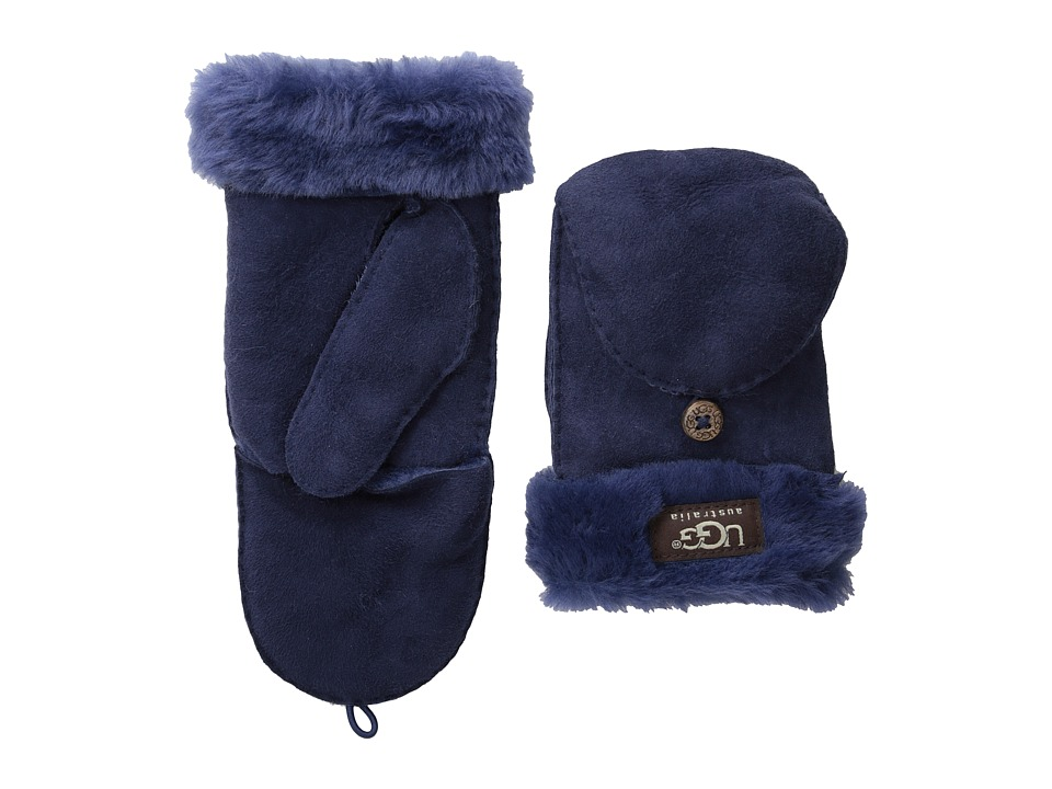 UGG - Shearling Flip Mitten (Peacoat) Wool Gloves