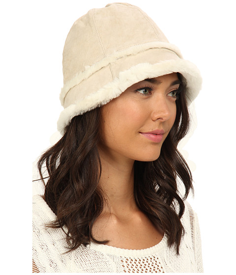 UGG - City Bucket Hat with Exposed Shearling (Sand) Traditional Hats
