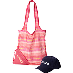 SALE! $14.99 - Save $21 on Crocs Womens Foldable Mesh Tote And Basic Washed Cap (Red Coral) Bags and Luggage - 58.35% OFF $35.99