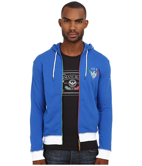 Armani Jeans - Made In Italy Special Edition Hoodie (Blue 1) Men