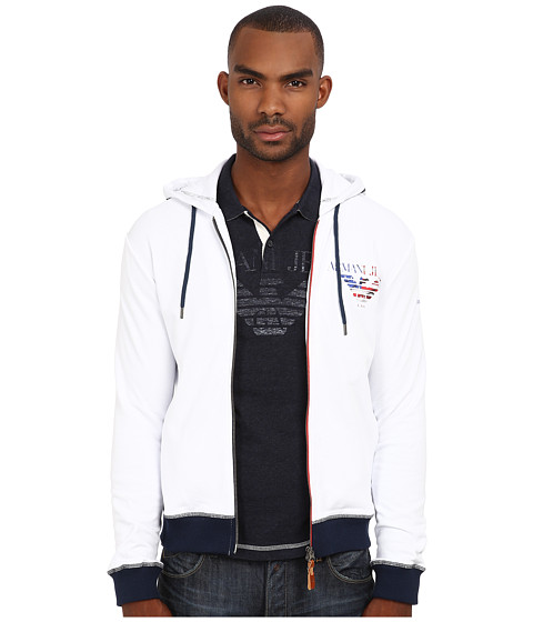 Armani Jeans - Made In Italy Special Edition Hoodie (White) Men's Sweatshirt