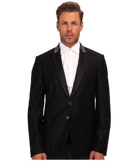 Just Cavalli - Embellished Lapel Blazer (Black) Men's Jacket