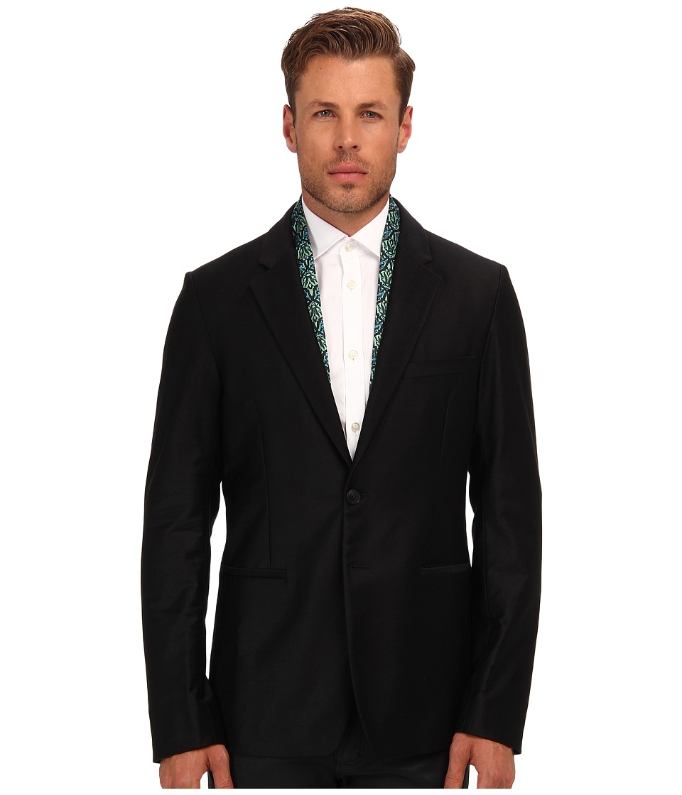 Just Cavalli - Blazer with Patterned Trim (Black) Men's Jacket