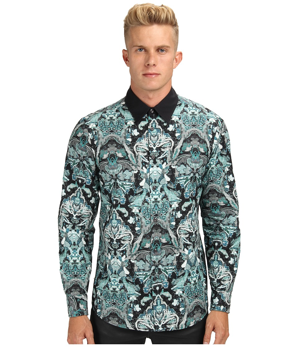 Just Cavalli - Woven Art Button-Up (Black) Men